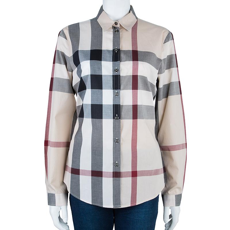 Burberry Beige Nova Check Shirt M