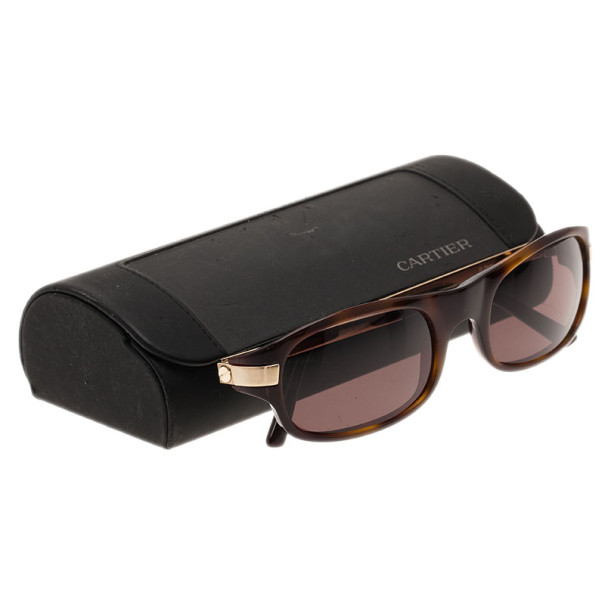 Cartier Brown Rectangle Sunglasses