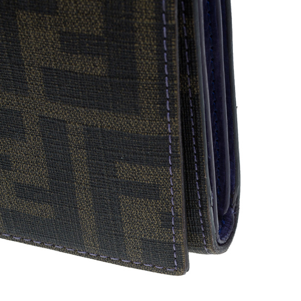 Fendi Zucca Canvas Continental Wallet