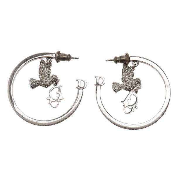 Dior Crystal Hoop Earrings