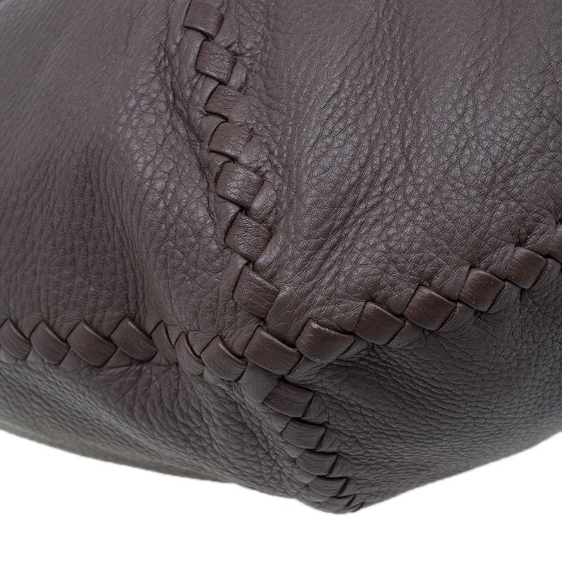 Bottega Veneta Brown Leather Large Cervo Hobo