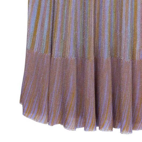 M Missoni Metallic Trapeze Dress S