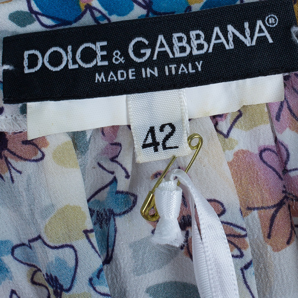 Dolce And Gabanna Floral Print Top M