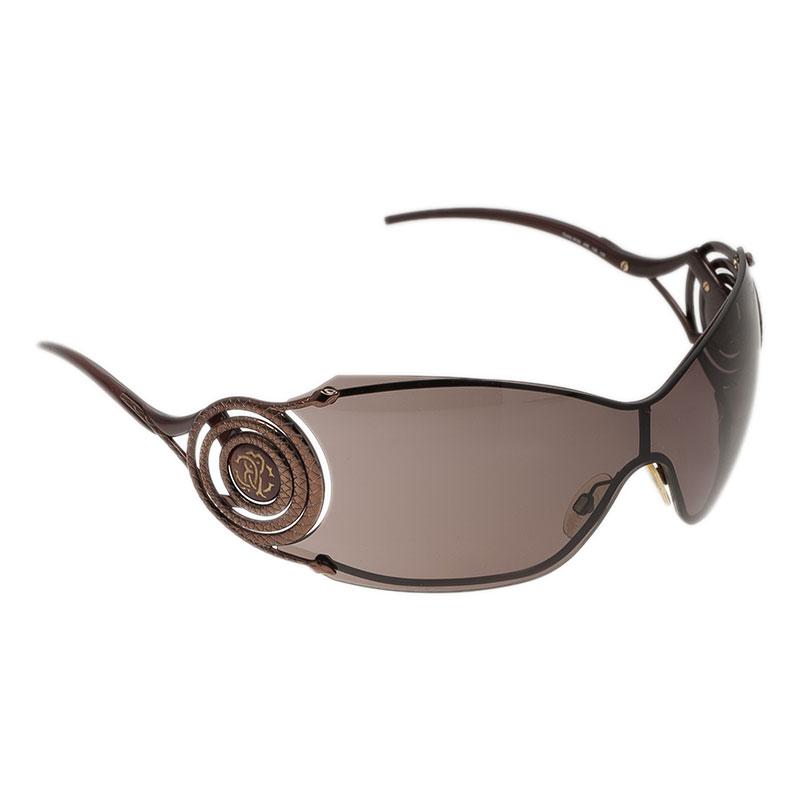 Roberto Cavalli Brown Opale Shield Sunglasses