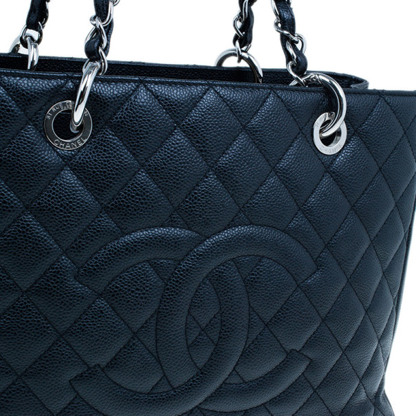 Chanel Black Grand Caviar Shopping Tote