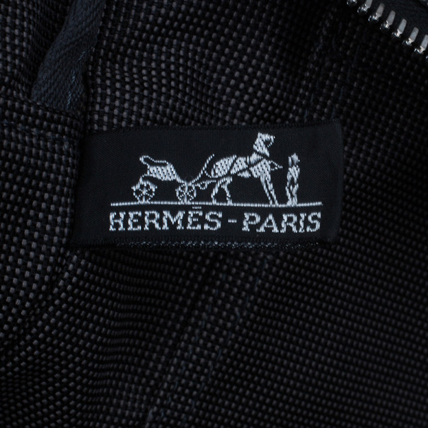 Hermes Grey Canvas Herline Tote MM