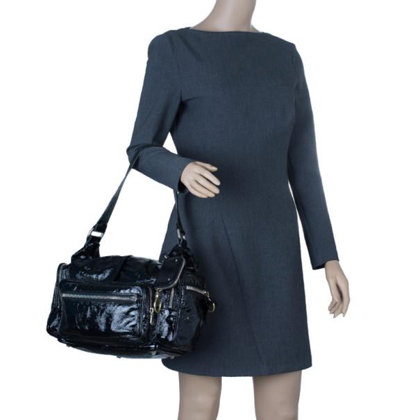 Chloe Black Patent Leather Ada Tote