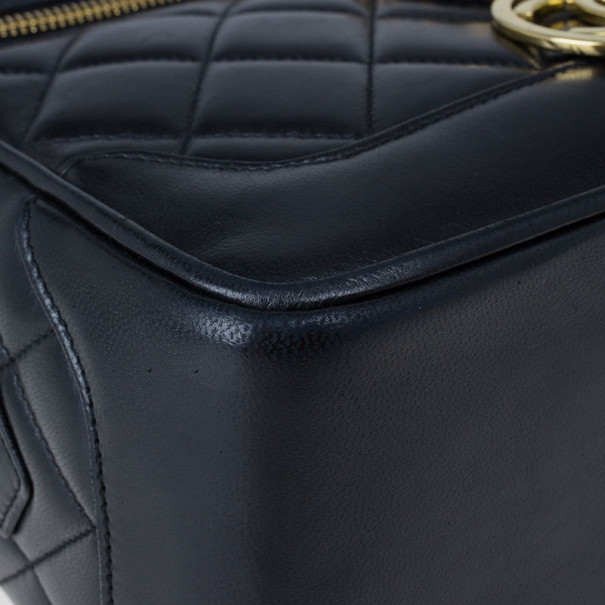 Chanel Black Lambskin Leather Vintage Crossbody