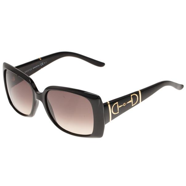Gucci Black GG 3537 Horsebit Square Sunglasses