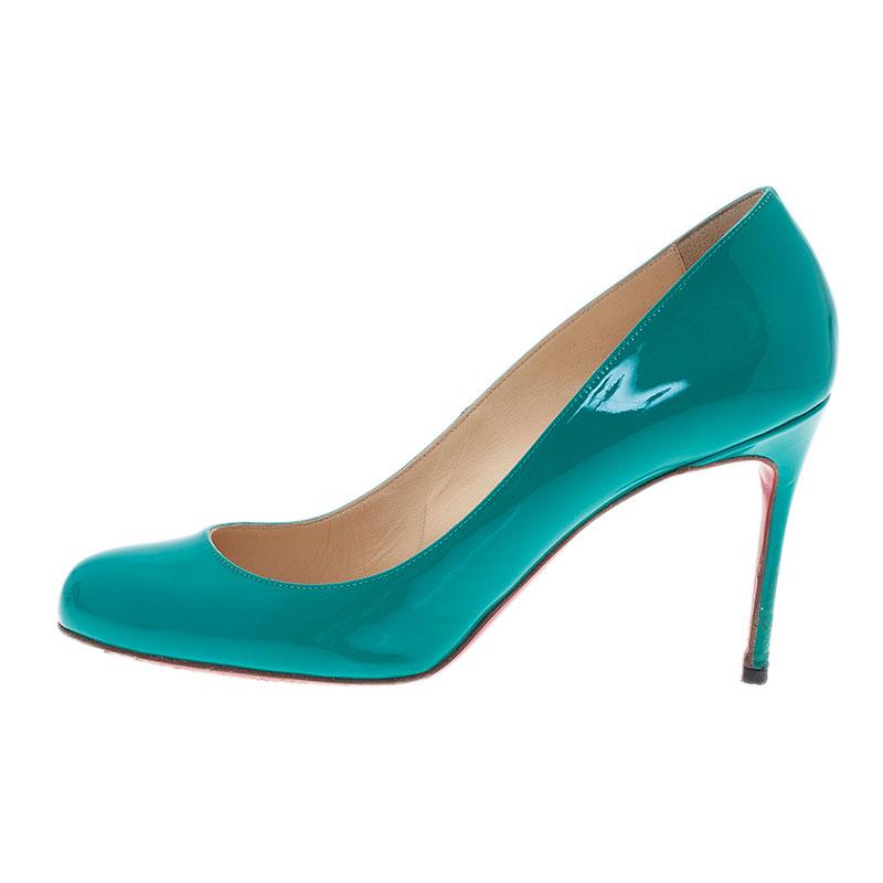 Christian Louboutin Green Patent Fifi Pumps Size 39