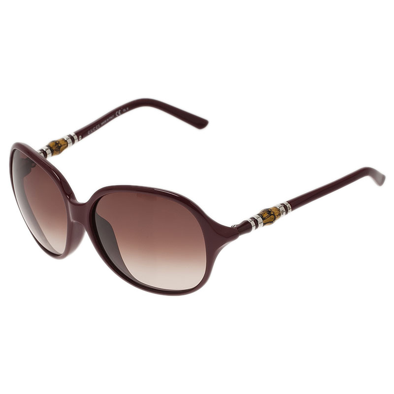 Gucci Red GG 3210 Bamboo Square Sunglasses