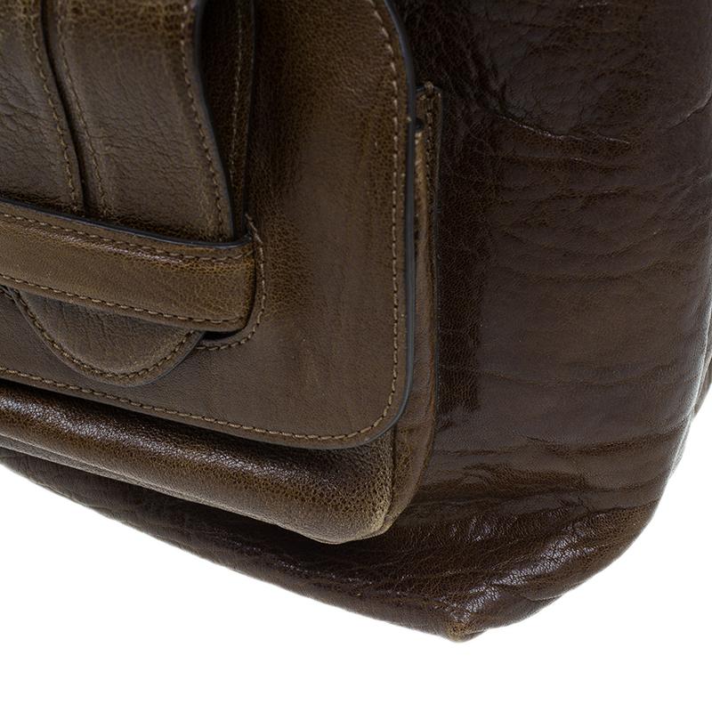 Chloe Brown Leather Saskia Square Tote Bag