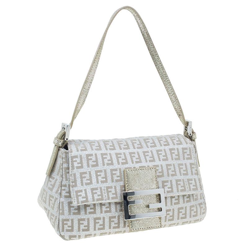 Fendi Gold and Silver Zucchino Mini Mama bag