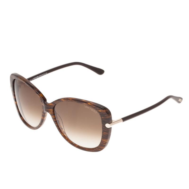 Tom Ford Brown Linda Cat Eye Sunglasses