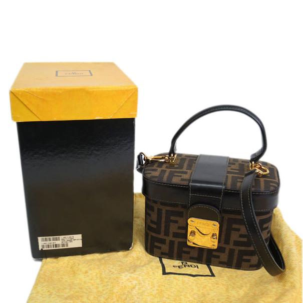Fendi Brown Zucca Canvas Vanity Bag