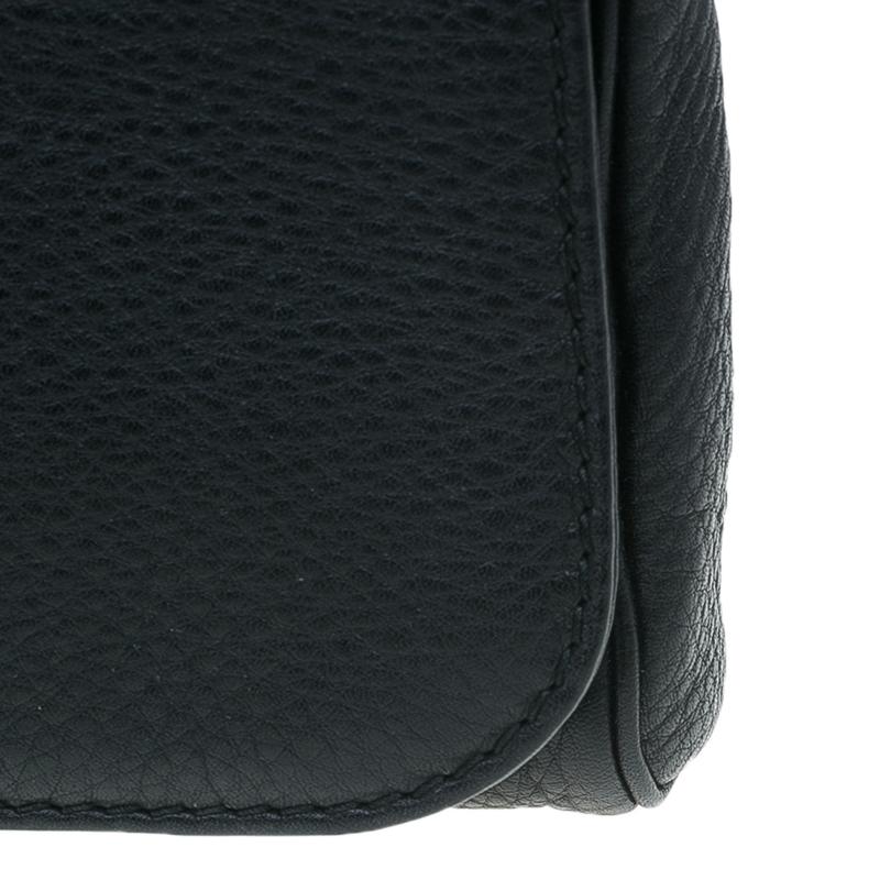 Gucci Black Leather Greenwich Evening Clutch
