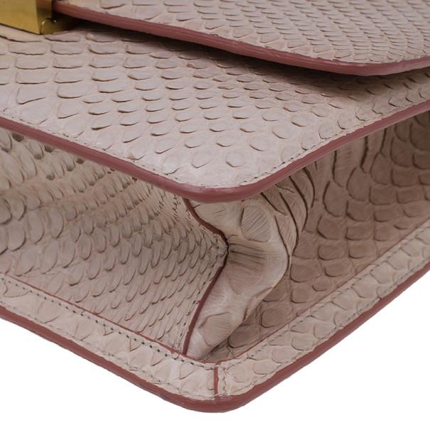 Roberto Cavalli Pink Python Hera Crossbody
