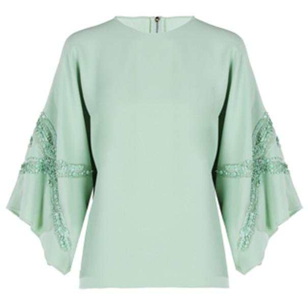 Elie Saab Mint Wide-Sleeved Top L