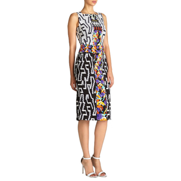 Peter Pilotto Kia Printed Knee-Length Dress S