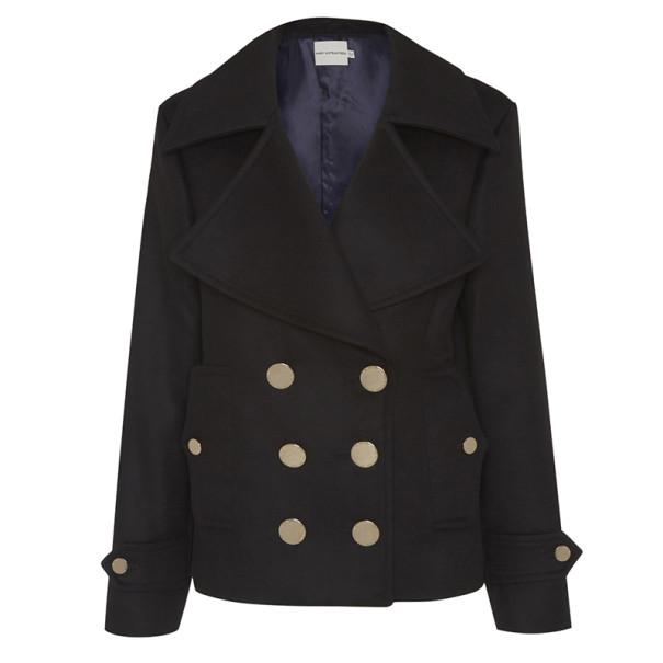 Mary Katrantzou Black Didicon Short Coat S