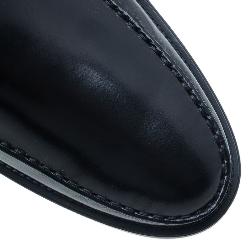Tod's Black Leather Loafers Size 45