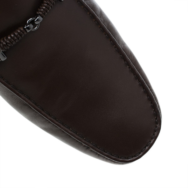 Tod's Brown Leather Loafers Size 46