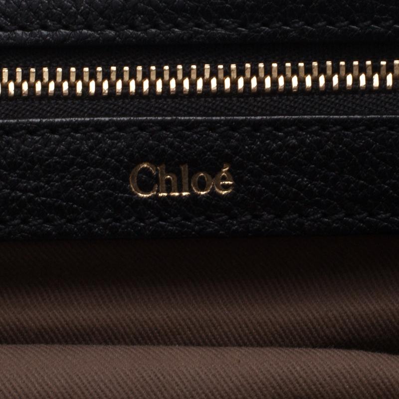 Chloe Black Python Medium Sally Shoulder Bag
