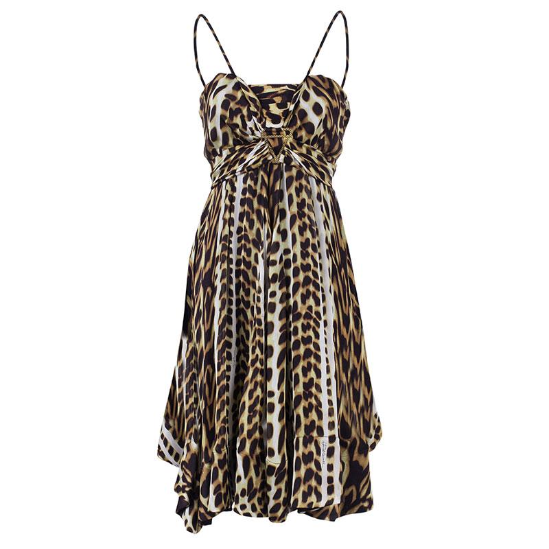 Just Cavalli Leopard Print Babydoll Dress M