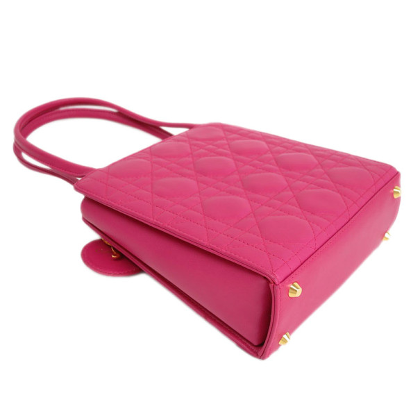 Dior Pink Quilted Shoulder Bag
