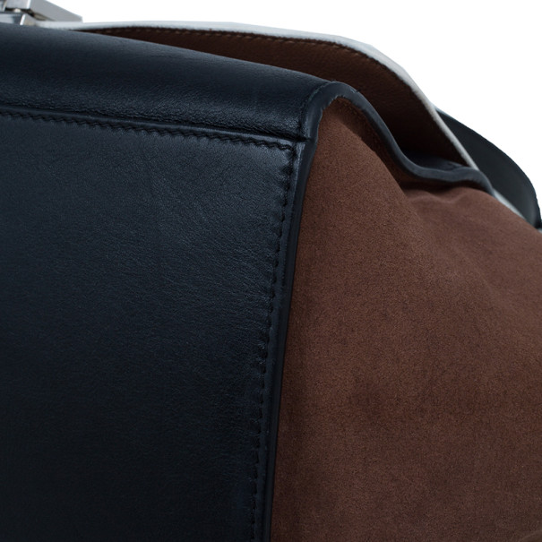 Celine Tricolor Smooth Calfskin Medium Trapeze Bag