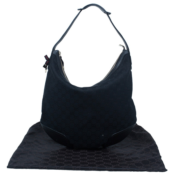 Gucci Black GG Canvas Princy Hobo