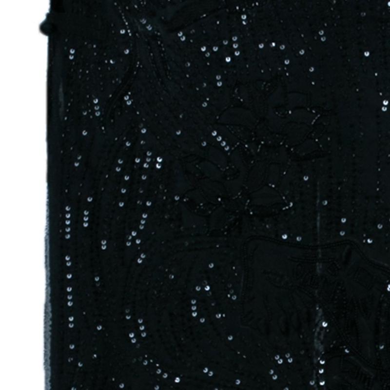 Emilio Pucci Black Beaded Maxi Skirt M
