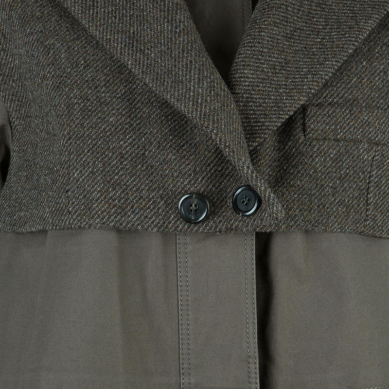 Louis Vuitton Khaki Mid-Length Coat M