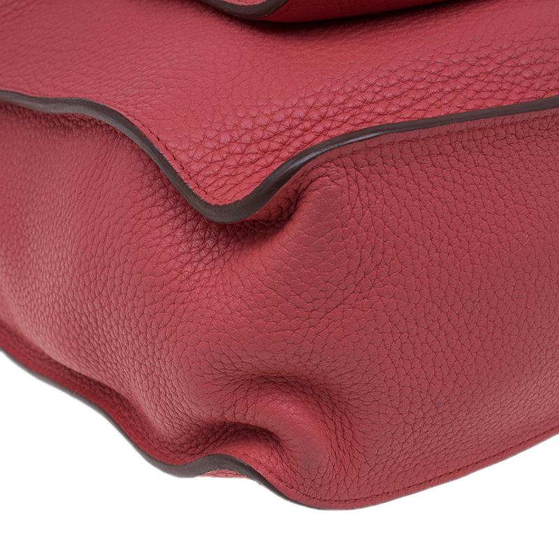 Hermes Rose Lipstick Clemence Leather Marwari PM Bag