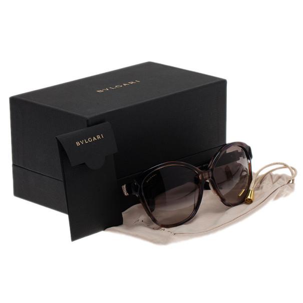 Bvlgari Brown Dior 56mm Cat Eye Sunglasses