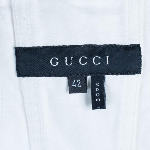 Gucci White Denim Jacket M