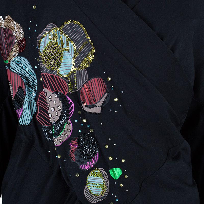 Kenzo Black Patchwork Detail Top S