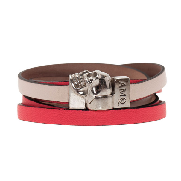 Alexander McQueen Double Wrap Skull Bracelet 16CM