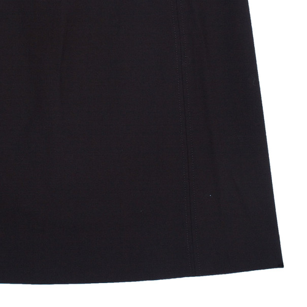 Tory Burch Brown Leather Trimmed Skirt M