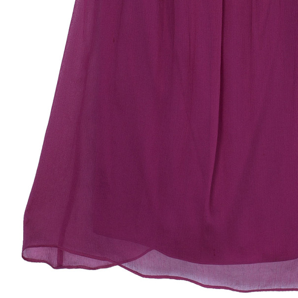 Diane Von Furstenberg Marston Fuschia Silk Top XS