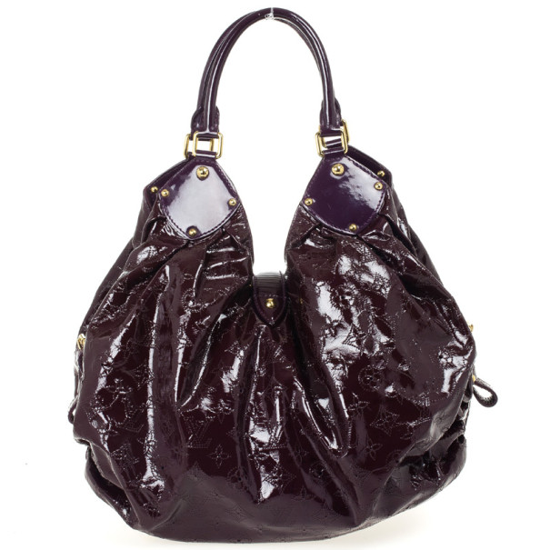 Louis Vuitton Limited Edition Bordeaux Patent Leather Surya XL Bag