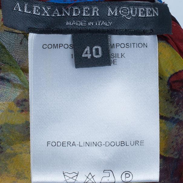 Alexander McQueen Multicolour Printed Silk Top S
