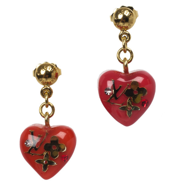Louis Vuitton Inclusion Red Earrings
