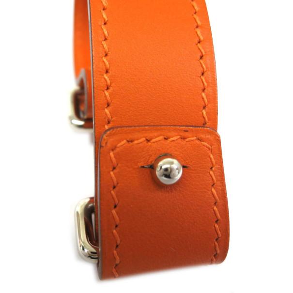 Hermes Night Veau Barenia Leather Bracelet