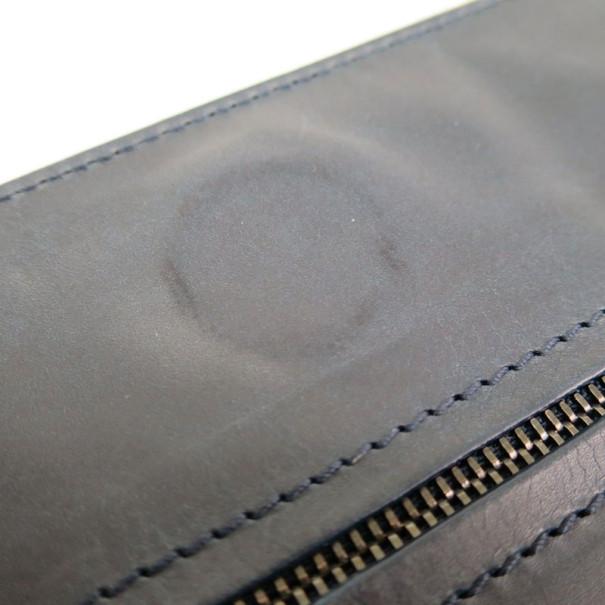 Bottega Veneta Grey Leather Flap Intrecciato Clutch