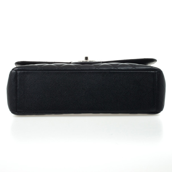 Chanel Black Caviar Classic Maxi Flap Bag