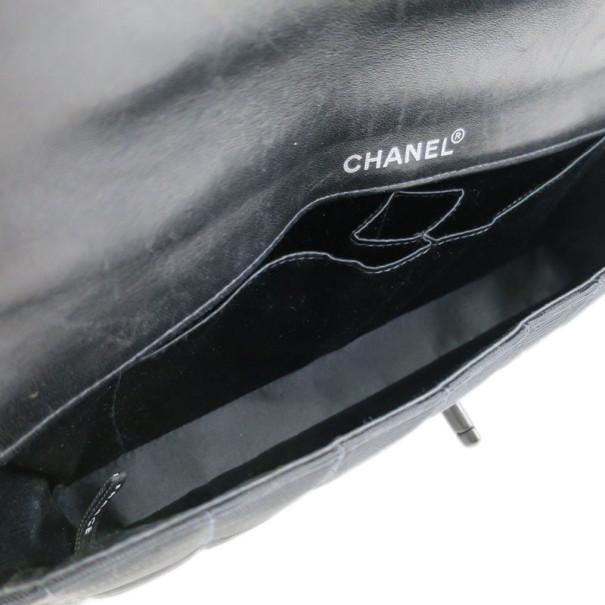 Chanel Grey Fabric Matlasse Chocolate Bar Flap Bag