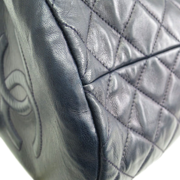 Chanel Black Quilted Barrel Bag