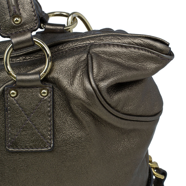 Dolce and Gabbana Bronze Leather Hobo