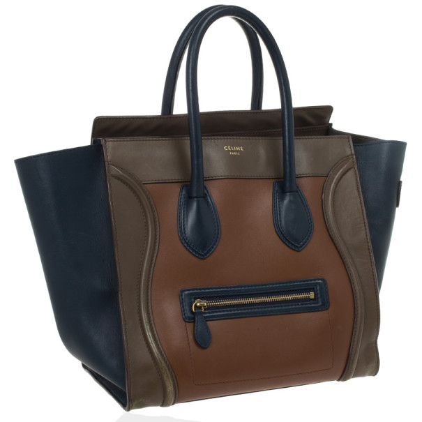 Celine Tri-Color Mini Luggage Tote